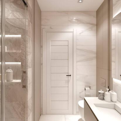 Элитный дизайн двухэтажной квартиры ванная