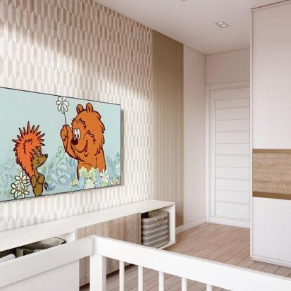 Элитный дизайн двухэтажной квартиры детская