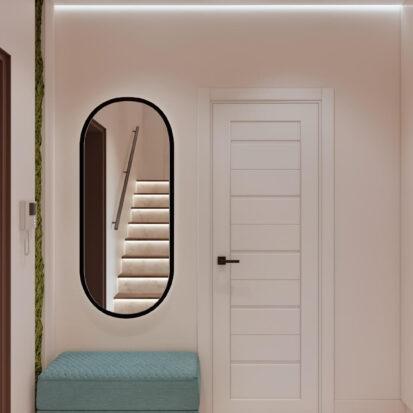 Элитный дизайн двухэтажной квартиры прихожая