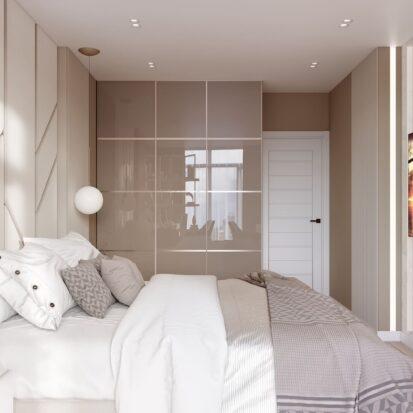 Элитный дизайн двухэтажной квартиры спальня