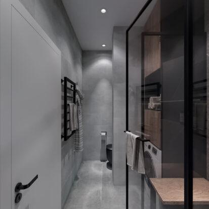Элитный дизайн 3-х комнатной квартиры Киев ванная