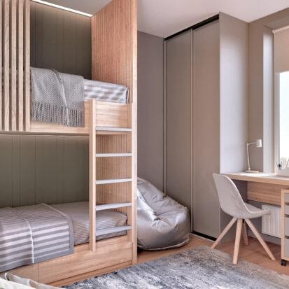 Элитный дизайн 3-х комнатной квартиры Киев детская