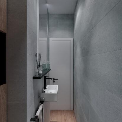 Элитный дизайн 3-х комнатной квартиры Киев туалет