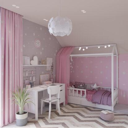 Дизайн дома Запорожье детская для девочки