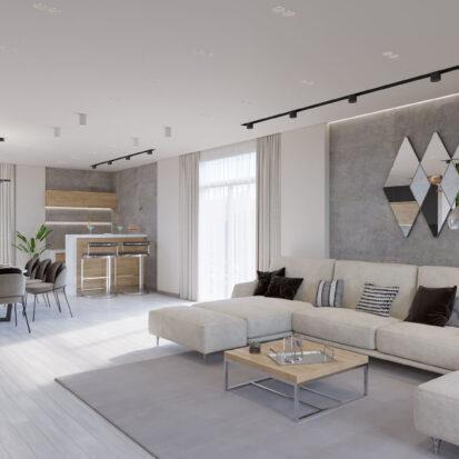 Дизайн дома Запорожье дизайнерский ремонт гостиной