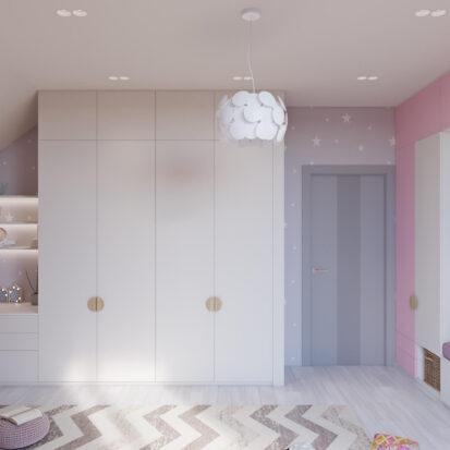 Дизайн дома Запорожье дизайнерский ремонт детской для девочки