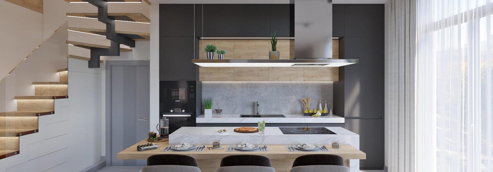 Дизайн дома Запорожье дизайнерский ремонт кухни