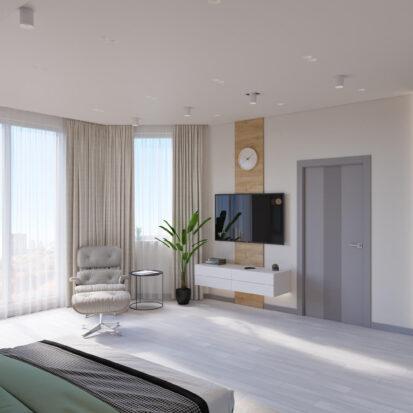 Дизайн дома Запорожье дизайнерский ремонт спальни
