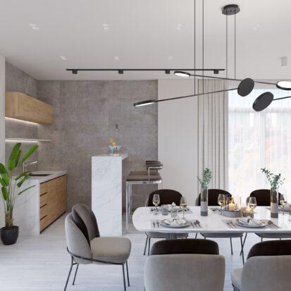 Дизайн дома Запорожье дизайнерский ремонт столовой