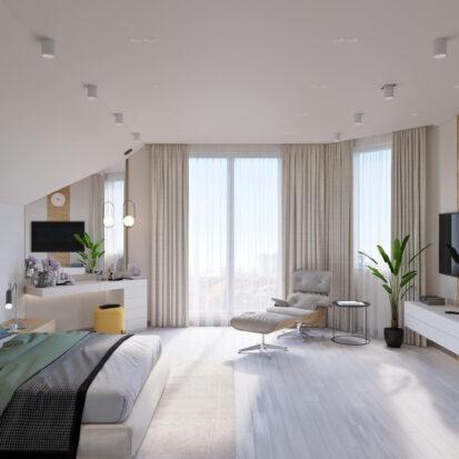 Дизайн дома Запорожье дизайн-проект спальни