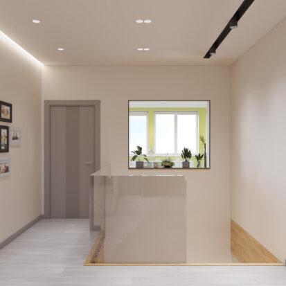 Дизайн дома Запорожье коридор 2й этаж