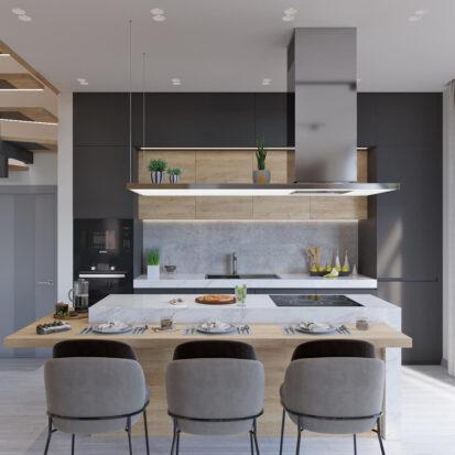 Дизайн дома Запорожье кухня