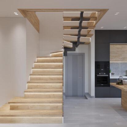 Дизайн дома Запорожье лестница на 2й этаж