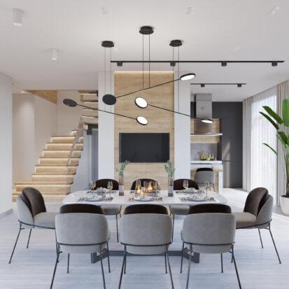 Дизайн дома Запорожье проект столовой