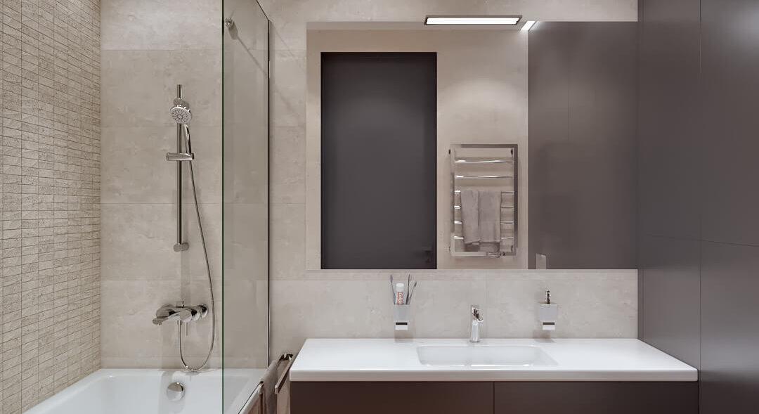 Дизайн квартиры Днепр ванная комната