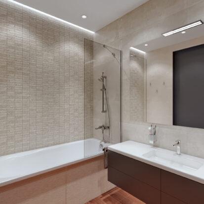 Дизайн квартиры Днепр ванная