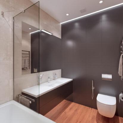 Дизайн квартиры Днепр дизайнерский ремонт ванной