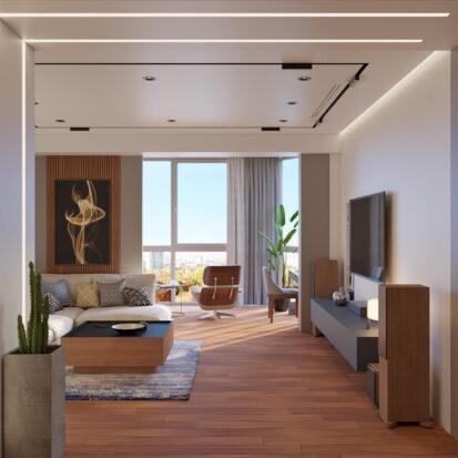 Дизайн квартиры Днепр дизайн проект гостиной