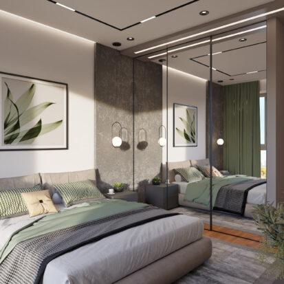Дизайн квартиры Днепр дизайн-проект спальни