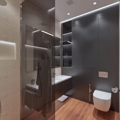 Дизайн квартиры Днепр душевая