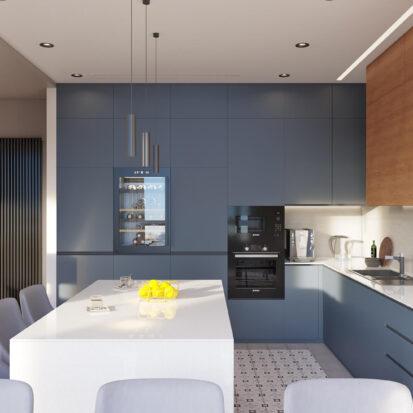 Дизайн квартиры Днепр кухня-студия цена