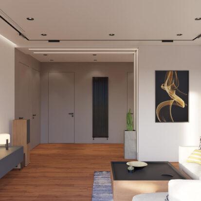 Дизайн квартиры Днепр проект гостиной
