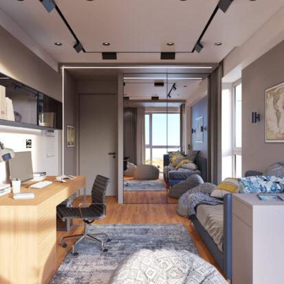 Дизайн квартиры Днепр проект детской комнаты