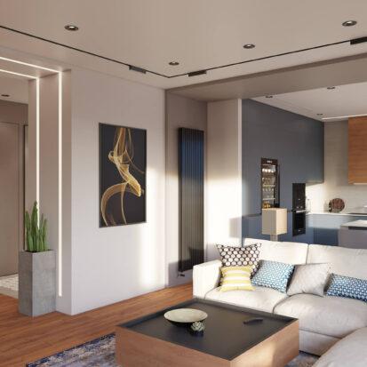 Дизайн квартиры Днепр ремонт гостиной