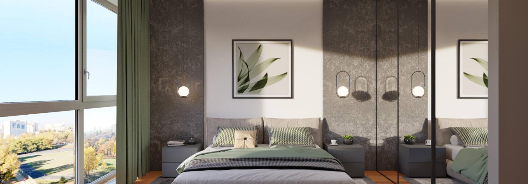 Дизайн квартиры Днепр спальня