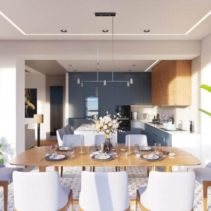 Дизайн квартиры Днепр столовая