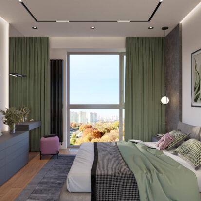 Дизайн спальни в новостройке Днепр