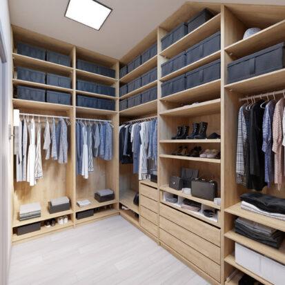 Элитный дизайн дома Запорожье гардеробная комната