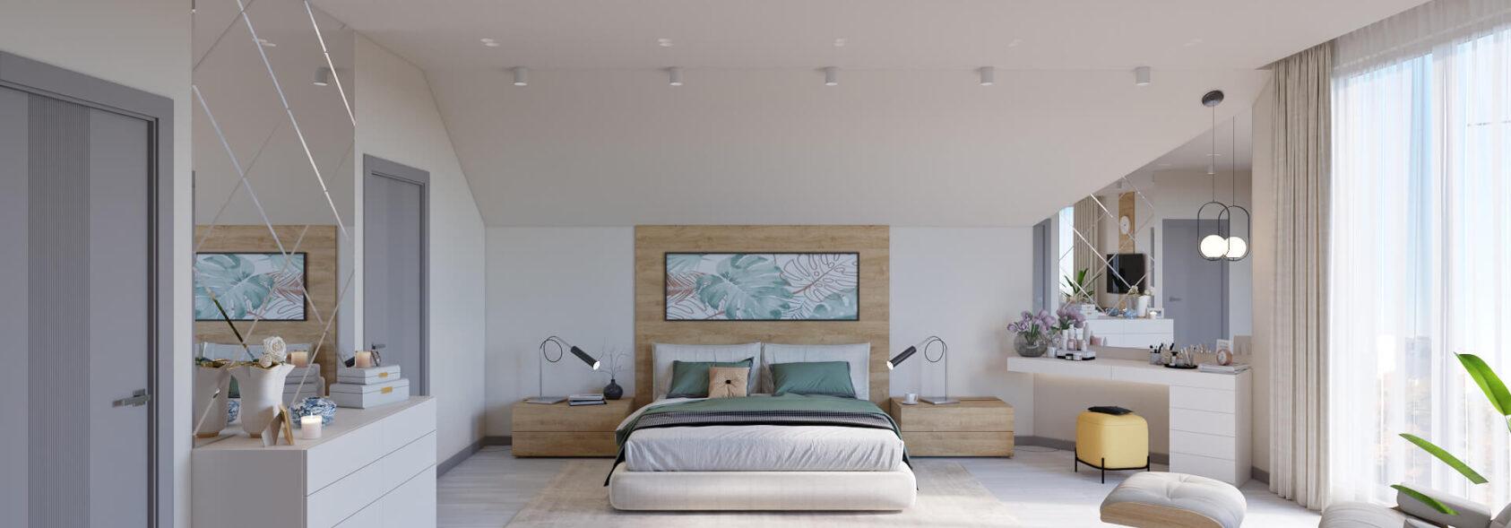 Элитный дизайн дома Запорожье спальня