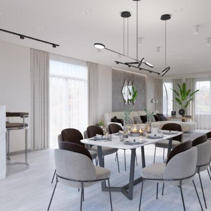 Элитный дизайн дома Запорожье столовая