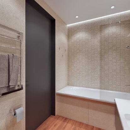 Элитный дизайн квартиры Днепр ванная