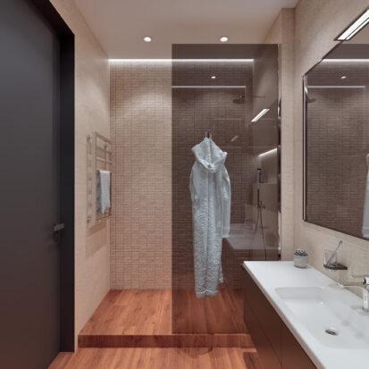 Элитный дизайн квартиры Днепр туалет