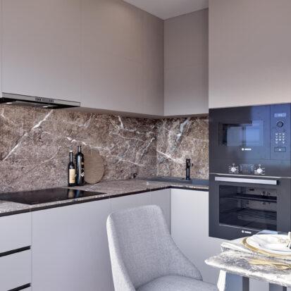 Дизайнерский ремонт 2х комнатной квартиры Энергодар кухня