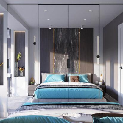 Дизайнерский ремонт 2х комнатной квартиры Энергодар спальня