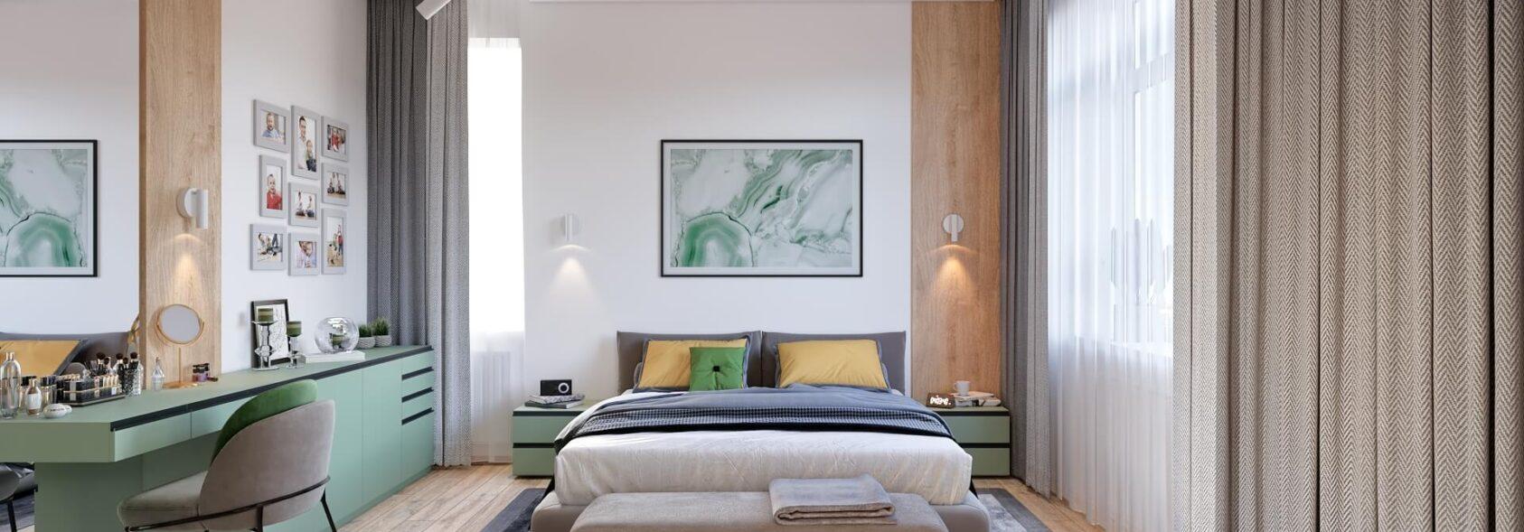 Дизайнер интерьера спальня