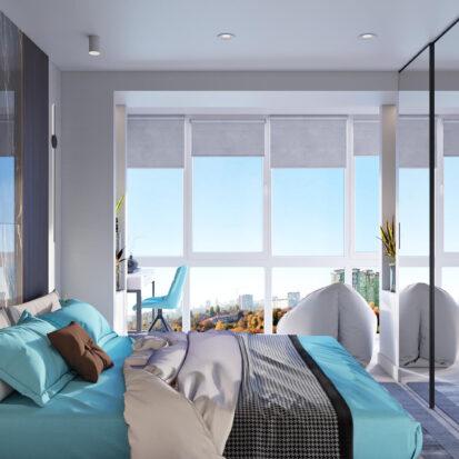 Дизайн - проект 2х комнатной квартиры Энергодар спальня