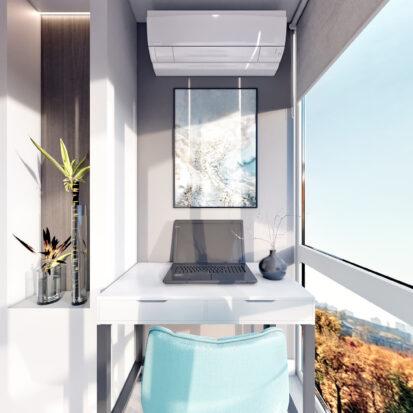 Дизайн 2х комнатной квартиры Энергодар балкон
