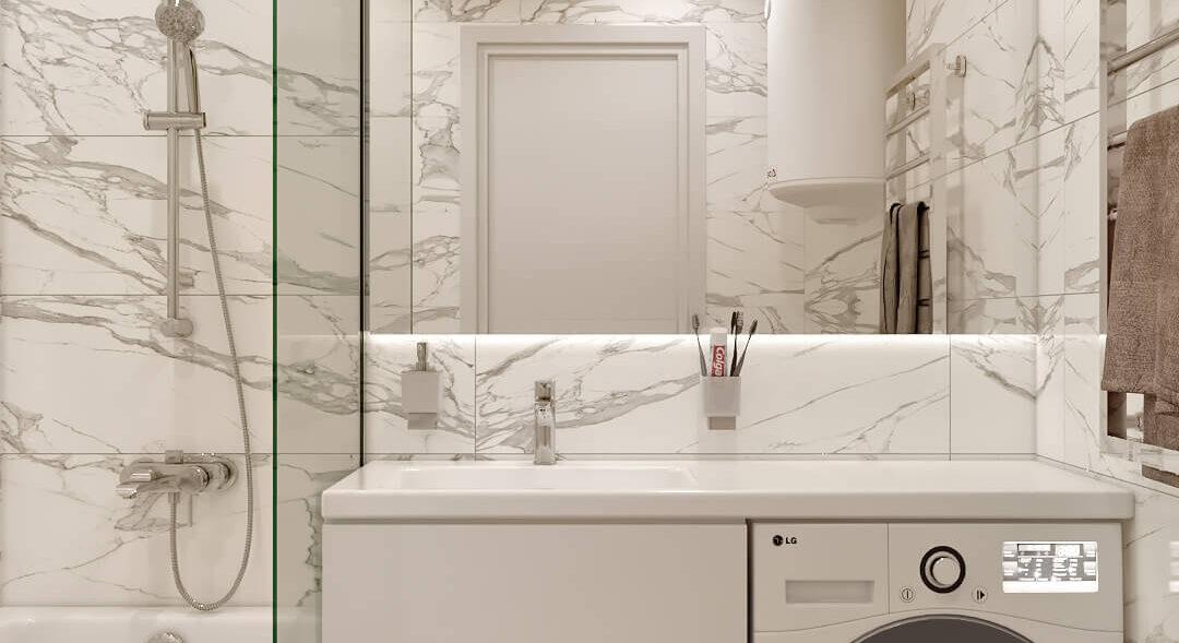 Дизайн 2х комнатной квартиры Энергодар ванная
