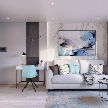 Дизайн 2х комнатной квартиры Энергодар гостиная