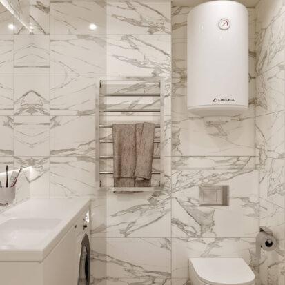 Дизайн 2х комнатной квартиры Энергодар душевая