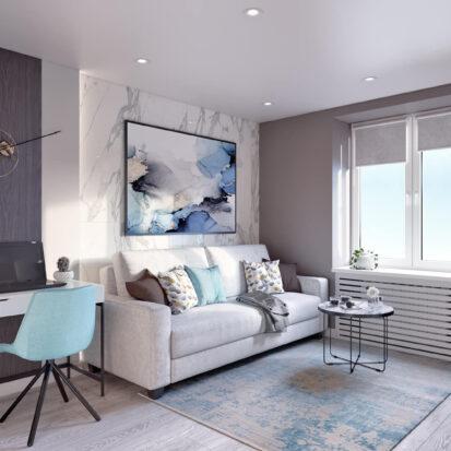 Дизайн 2х комнатной квартиры Энергодар интерьер гостиной