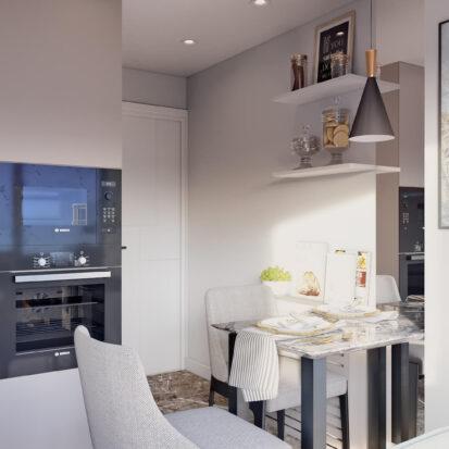 Дизайн 2х комнатной квартиры Энергодар интерьер кухни