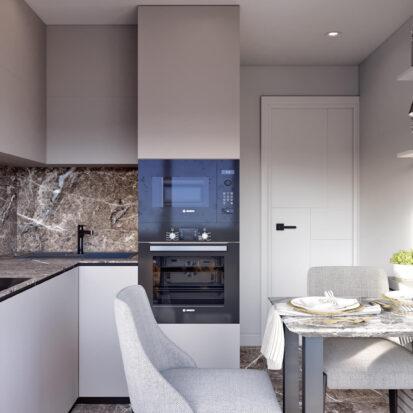 Дизайн 2х комнатной квартиры Энергодар кухня цена