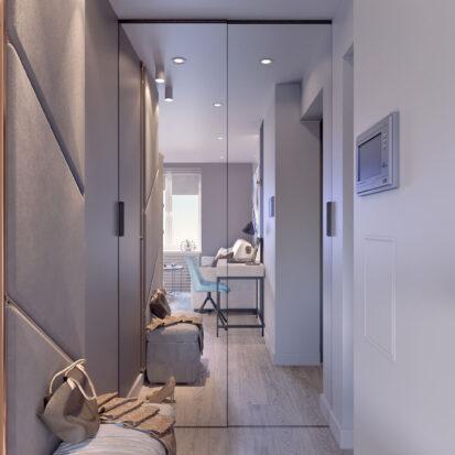 Дизайн 2х комнатной квартиры Энергодар прихожая