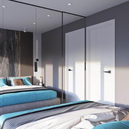 Дизайн 2х комнатной квартиры Энергодар проект спальни