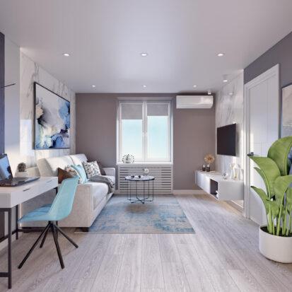 Дизайн 2х комнатной квартиры Энергодар ремонт гостиной